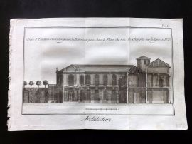 Diderot 1780's Antique Print. Architecture 28 Facade